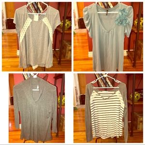 4 for 10!  Knit XL tops